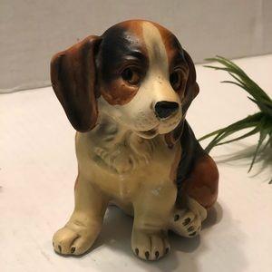 Vintage Ceramic Porcelain Beagle Puppy Figurine